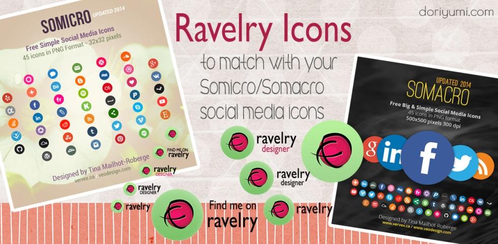 ravelry social media icon set by doriyumi.com