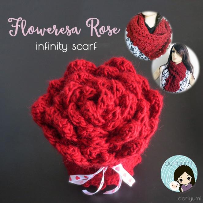 Floweresa Infinity Scarf - Crochet Pattern by Doriyumi