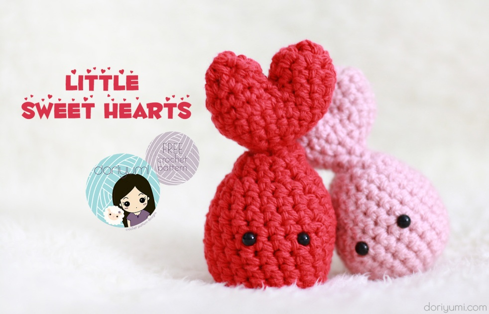 Little Sweet Hearts - free crochet pattern by DORIYUMI