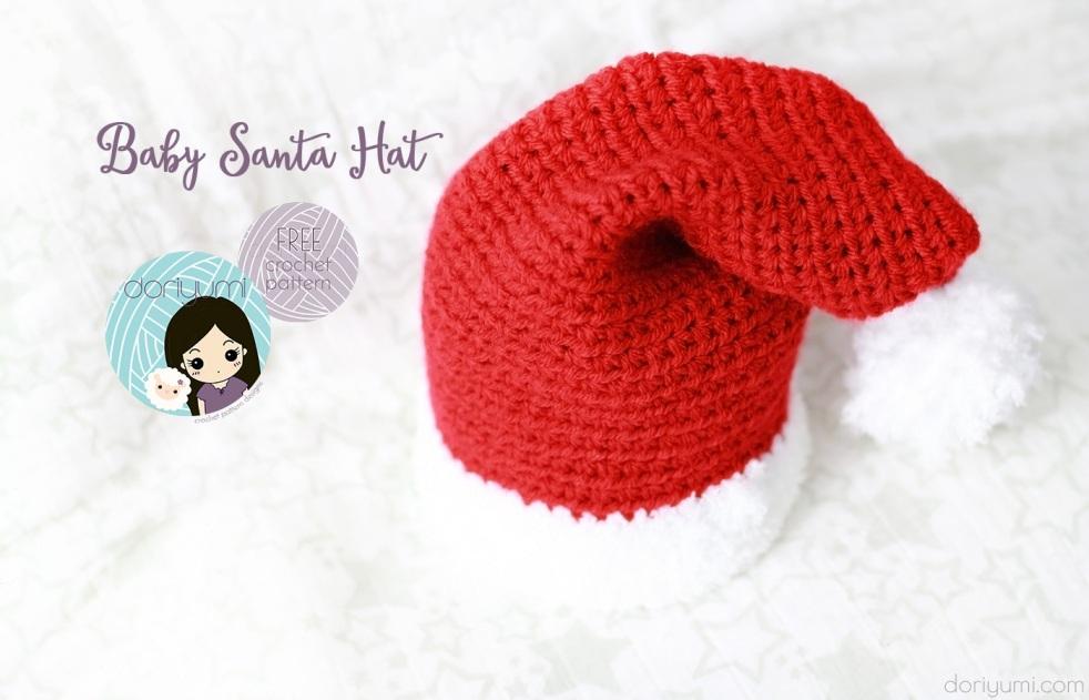 Baby Santa Hat - free crochet pattern by DORIYUMI