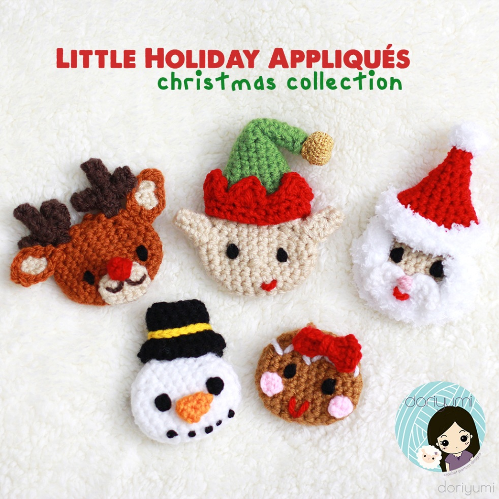 Christmas Appliques - Crochet Pattern by Doriyumi