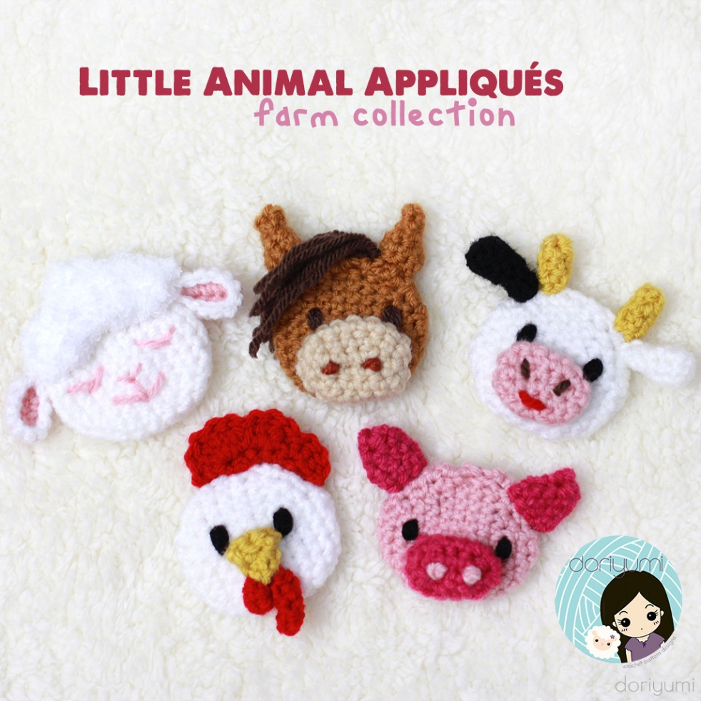 Farm Appliques - Crochet Pattern by Doriyumi