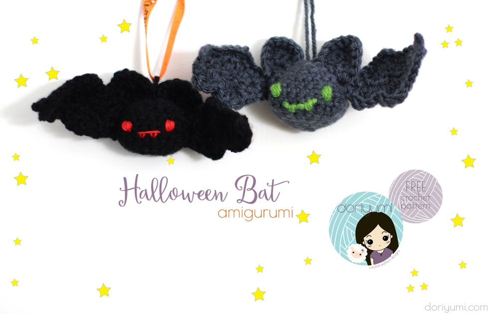 Halloween Bat - free crochet pattern by DORIYUMI
