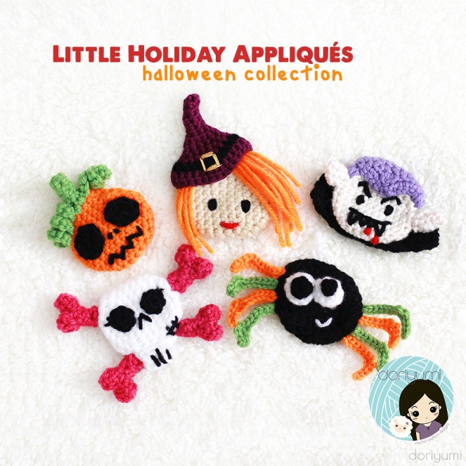 Halloween Appliques - Crochet Pattern by Doriyumi