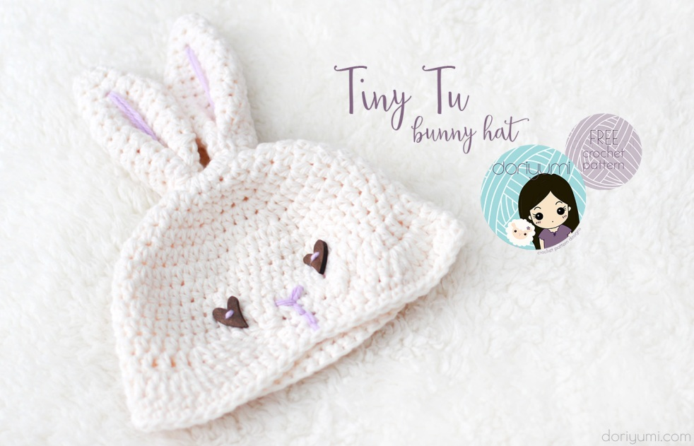Tiny Tu Bunny Hat - free crochet pattern by DORIYUMI