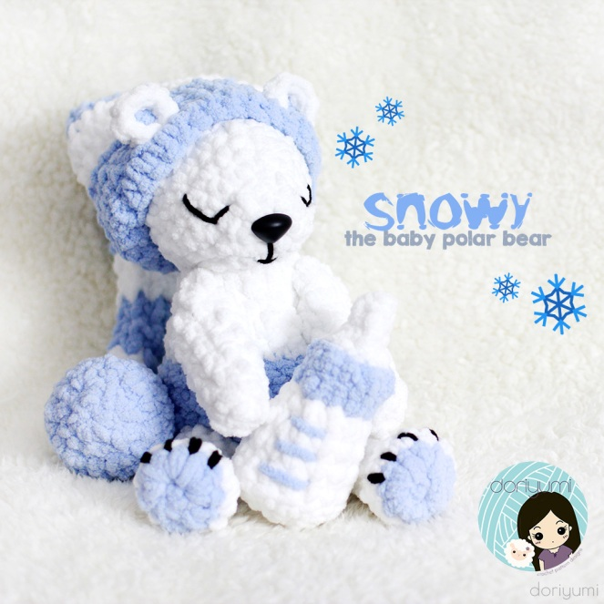 snowy polar bear - Crochet Pattern by Doriyumi