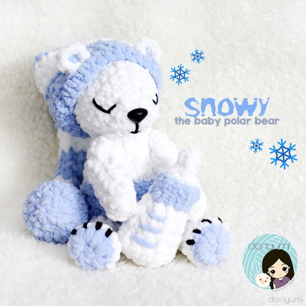 snowy polar bear - Crochet Pattern by Doriyumi