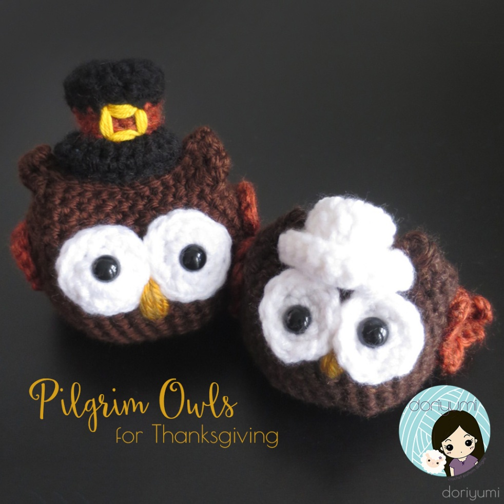 Pilgrim Owls - Crochet Pattern by Doriyumi