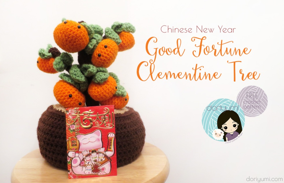 Clementine Tree Chinese New Year - free crochet pattern by DORIYUMI