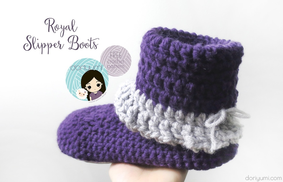 Royal Slipper Boots - free crochet pattern by DORIYUMI
