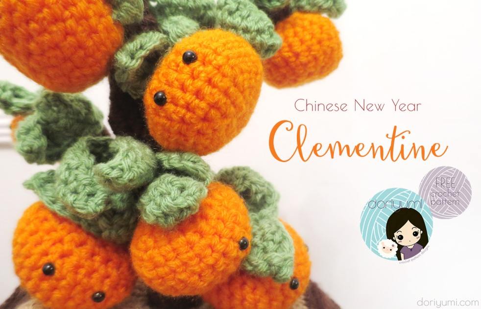 Clementine Chinese New Year - free crochet pattern by DORIYUMI