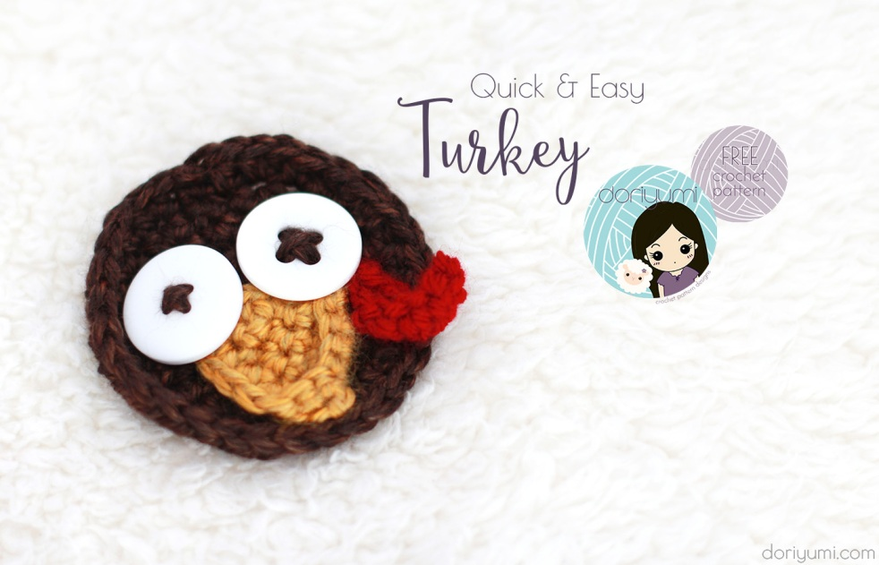 quick easy turkey - free crochet pattern by DORIYUMI