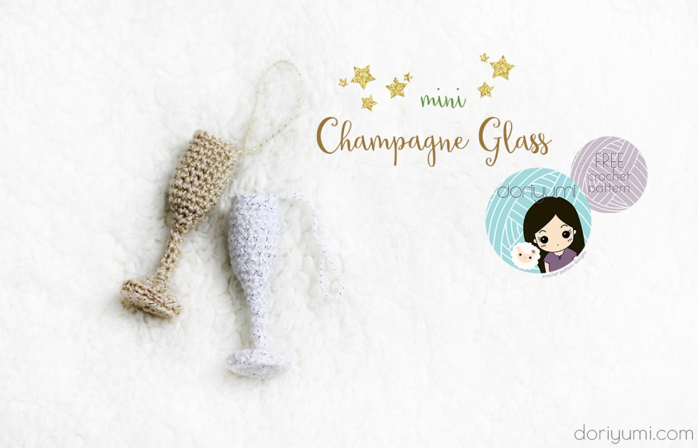 Mini Champagne Glass - Crochet Pattern by Doriyumi