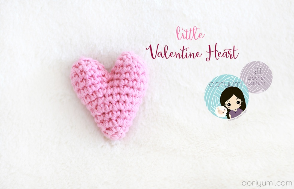 Little Valentine Heart - Free Crochet Pattern by Doriyumi