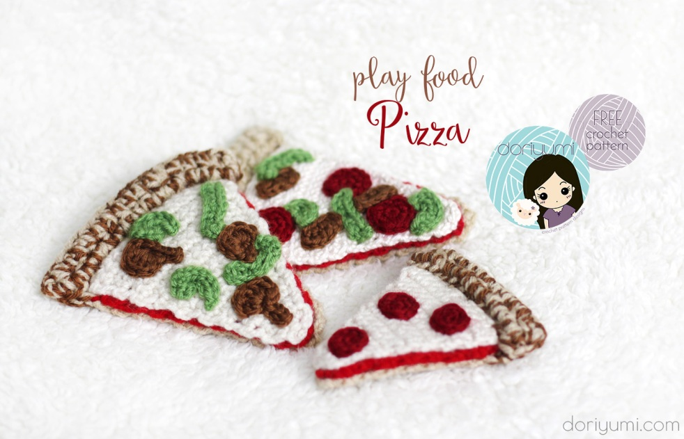 Play Food Pizza - Free Crochet Pattern by Doriyumi