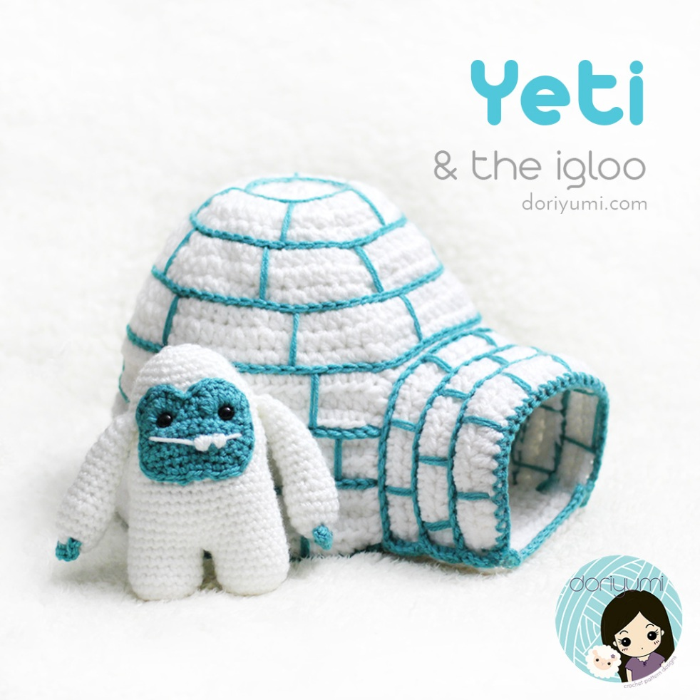 Yeti & Igloo - Crochet Pattern by Doriyumi