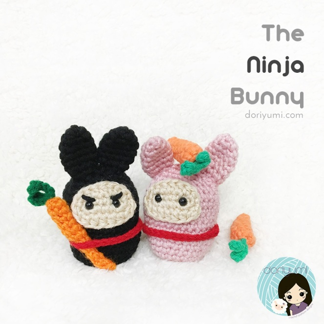 The Ninja Bunny - Crochet Pattern by Doriyumi