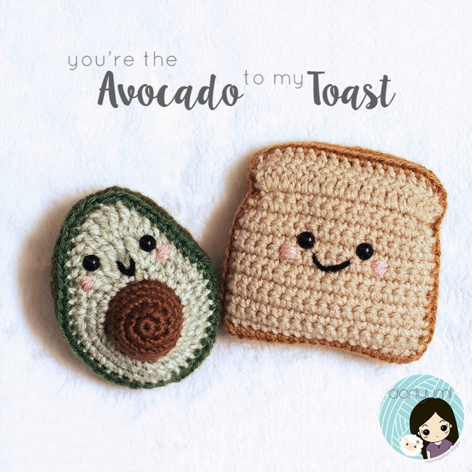 You're the Avocado to my Toast - Crochet Pattern by Doriyumi