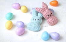Chillin' with the Peeps Easter Crochet Pattern by Doriyumi.com