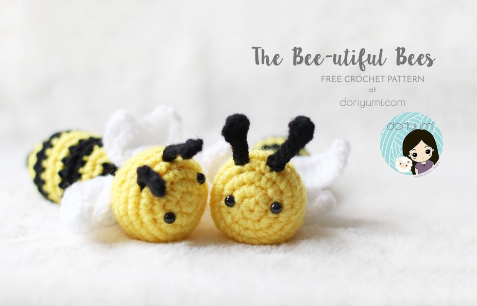 The Bee-utiful Bees Crochet Pattern by Doriyumi